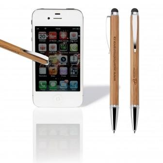 Stylet et stylo à bille en bambou ASIA