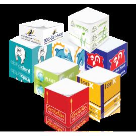 Demi-cube papier imprimé 2 couleurs