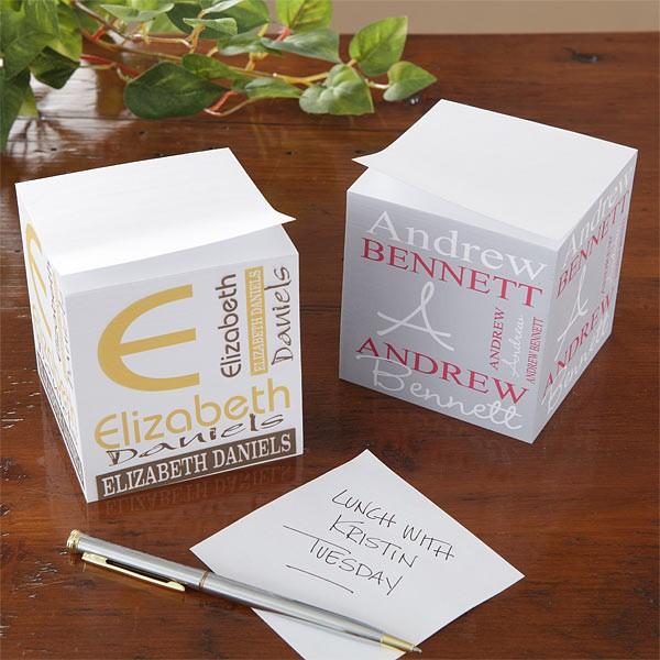 Grand cube papier imprimé 2 couleurs