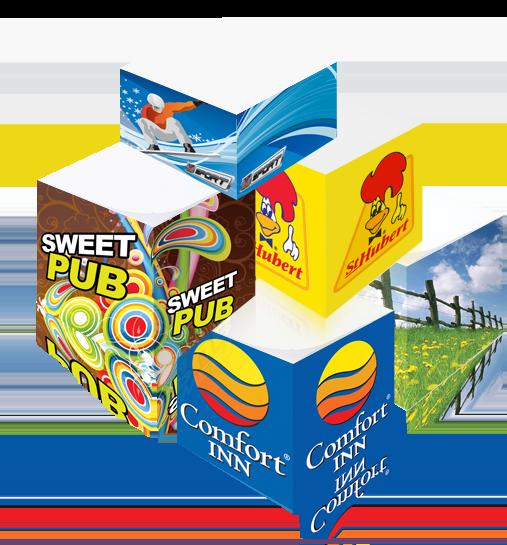 Demi-cube papier imprimé qualité photo
