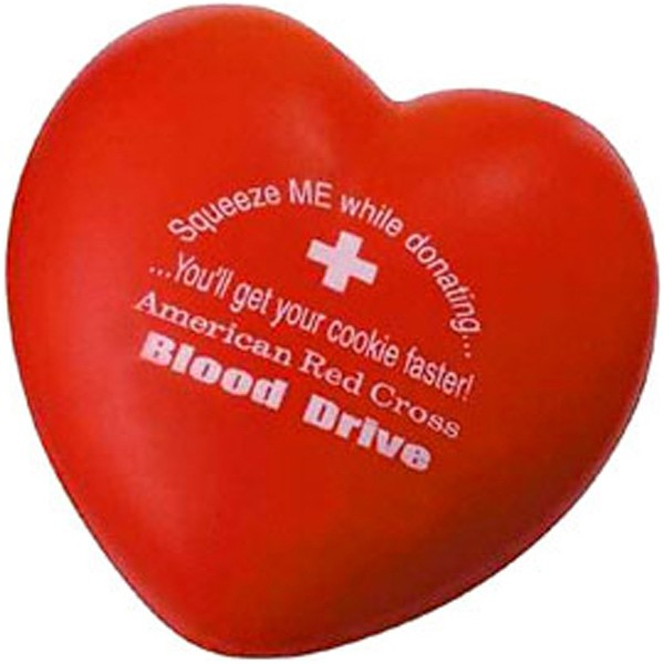 Balle anti-stress en forme de coeur