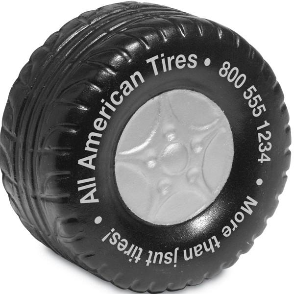 Balle anti-stress en forme de pneu