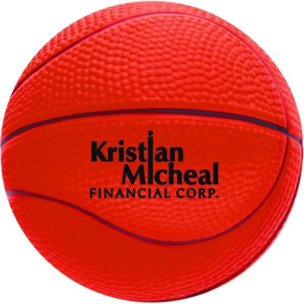 Balle anti-stress en forme de ballon de basketball