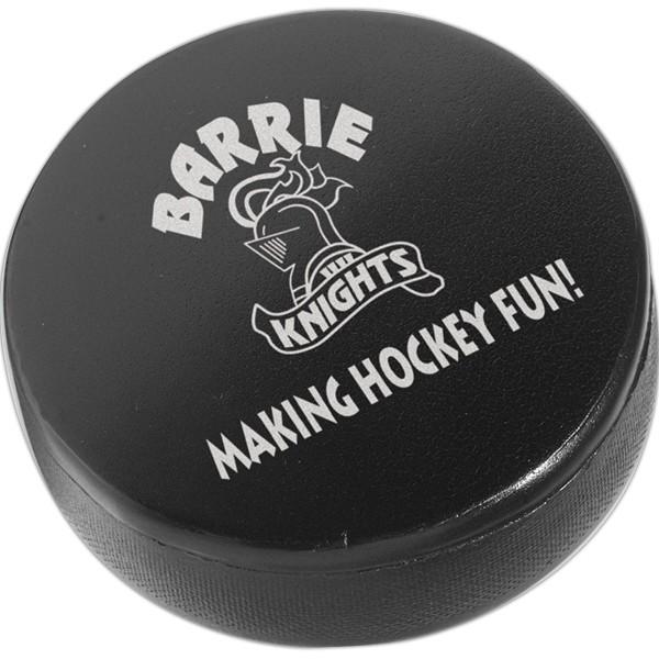 Balle anti-stress en forme de rondelle de hockey