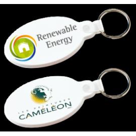Porte-clés flexible oval