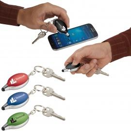 Porte-clés stylet avec lumière