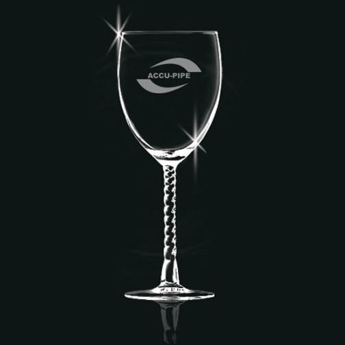 Coupe à vin avec pied torsadé de 10.5 oz.