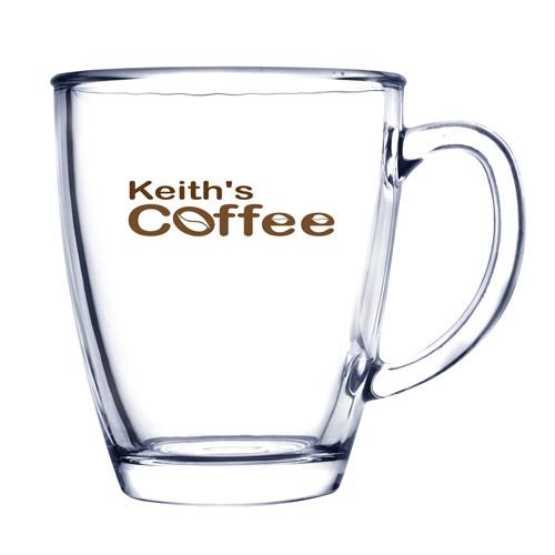 Tasse à café en verre de 12 oz.