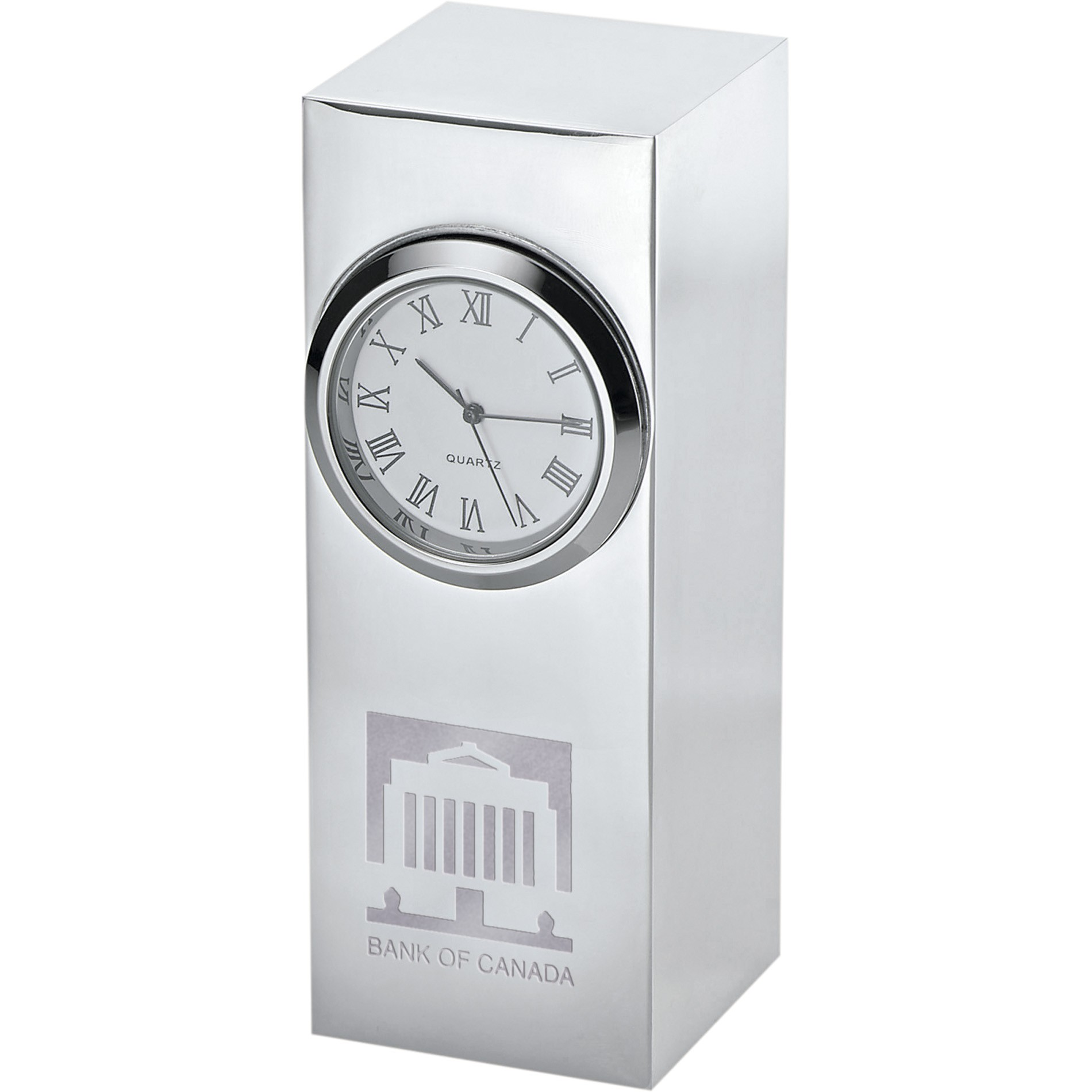 Horloge Radiance Silver PLate Column