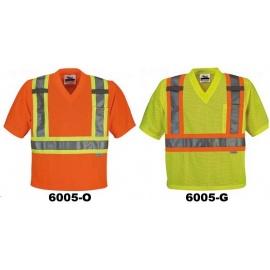 T-shirt de sécurité avec col en V