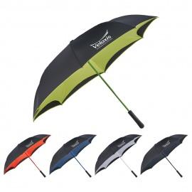 Parapluie d'inversion manuel coloré de 46 po