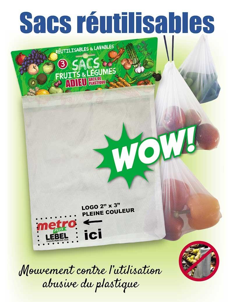 Sac fruits et légumes réutilisables