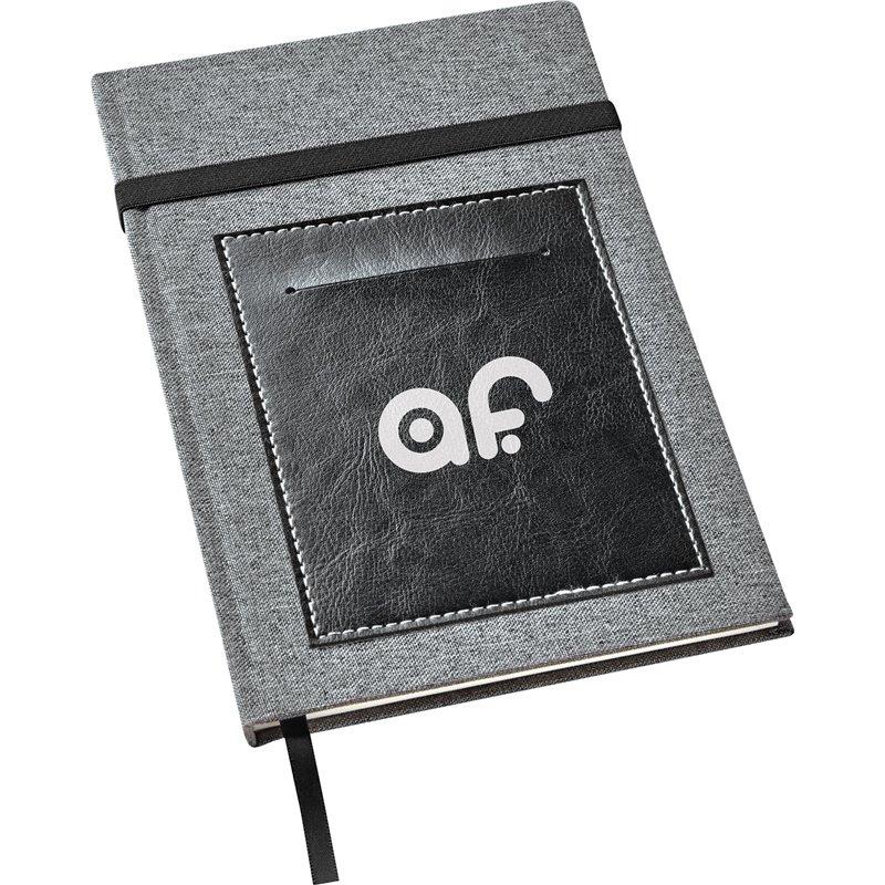 Carnet de notes en toile avec pochette vinyle