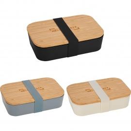 Contenant à lunch en fibre de bambou avec couvercle planche à découper