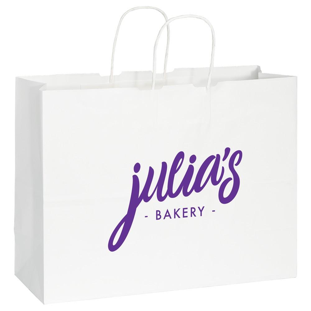 sac en papier kraft blanc- Large