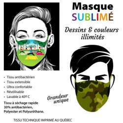 Masque de protection sublimé